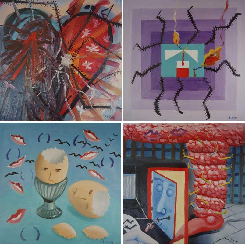 24 de mayo de 1991 (arriba, izquierda), 8 de juniode 1991 (arriba, derecha), 13 de junio de 1991 (abajo, izquierda), 19 de junio de 1991 (abajo, derecha) © The State of Bryan Charnley