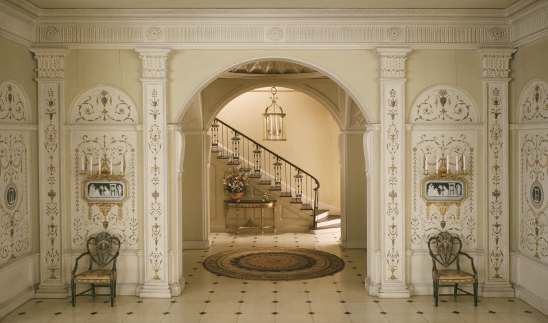 'English Entrance Hall of the Georgian Period, c. 1775'. c. 1932 - Narcissa Niblack Thorne