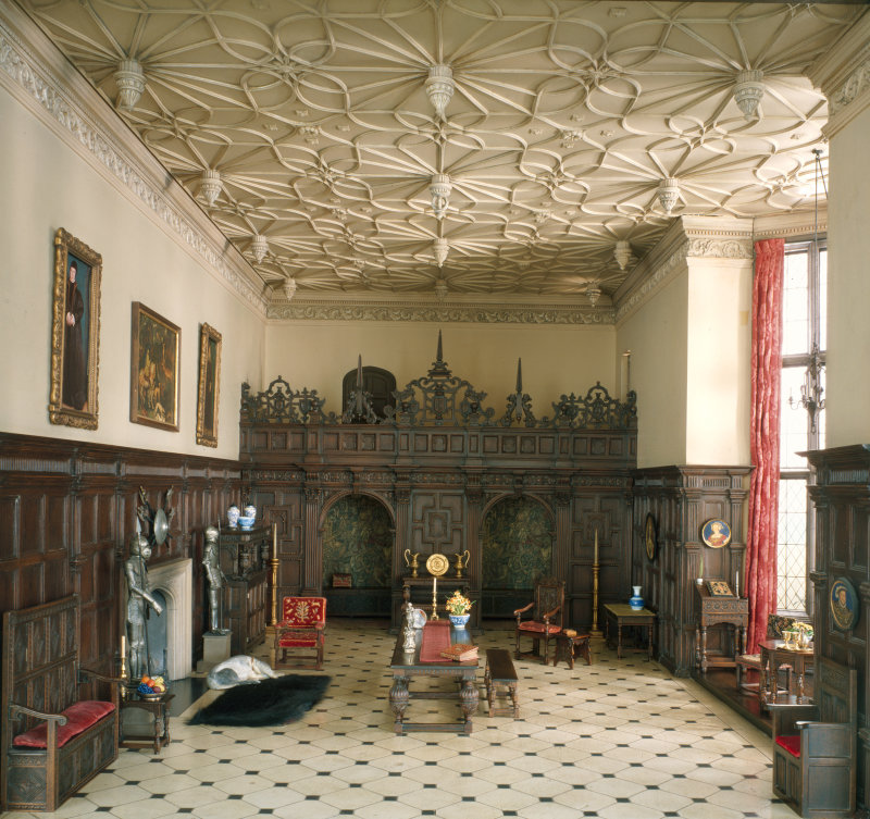 'English Great Room of the Late Tudor Period, 1550-1603'. c. 1937 - Narcissa Niblack Thorne