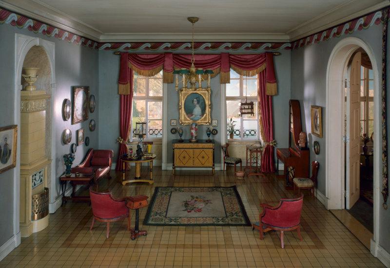 'German Sitting Room of the 'Biedermeier' Period, 1815-50'. c. 1937 - Narcissa Niblack Thorne