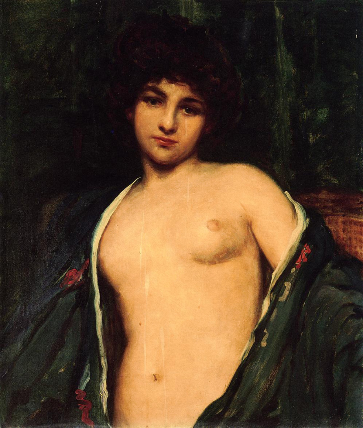 """Portrait of Evelyn Nesbitt"" - James Carroll Beckwith, c. 1901"