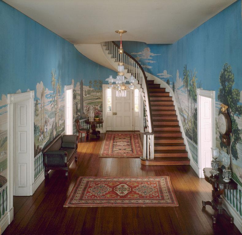 'Tennessee Entrance Hall, 1835'. c. 1940 - Narcissa Niblack Thorne