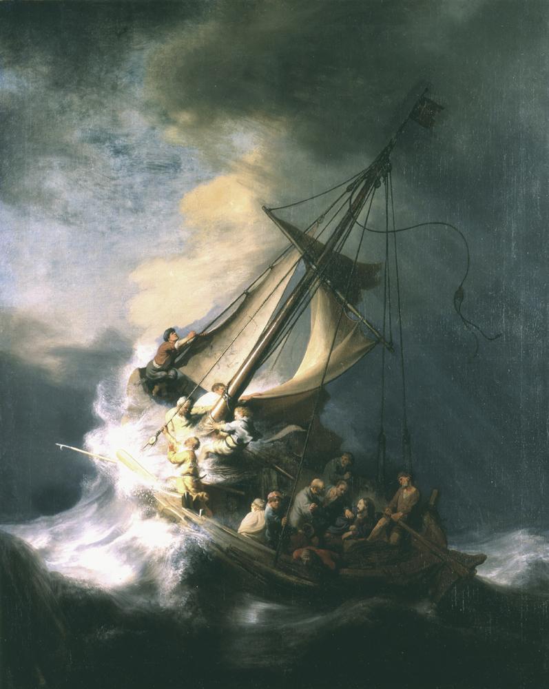 """""""La tormenta en el mar de Galilea"""", Rembrandt, 1633. Foto: FBI"""