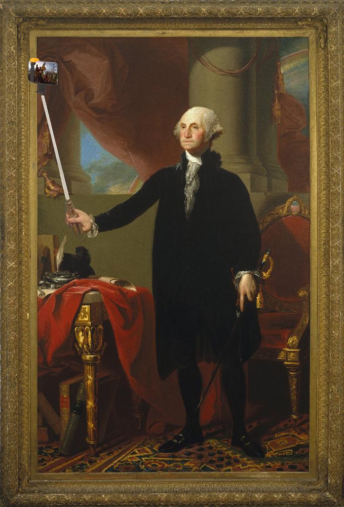 "Cuadro:  ""George Washington, 1796"" (Gilbert Stuart) - Retoque: amandastosz"
