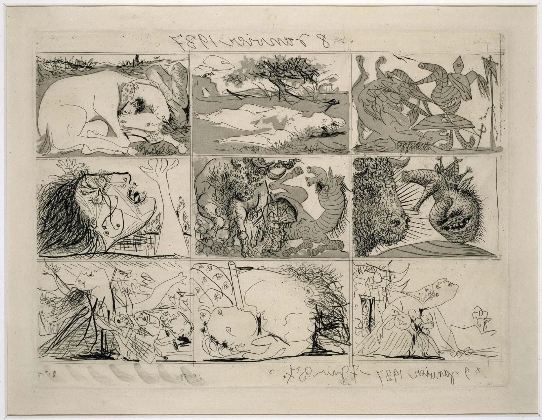 """""""Sueño y mentira de Franco II"""" - Pablo Picasso, enero, 1937 - Museo Reina Sofía"""