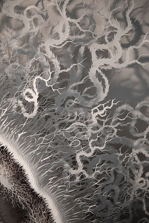 Detalle de 'Cut Microbe' - © Rogan Brown