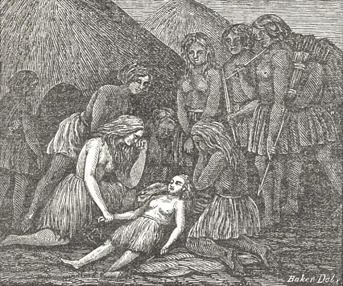 Muerte de Mary Ann según un grabado de la época