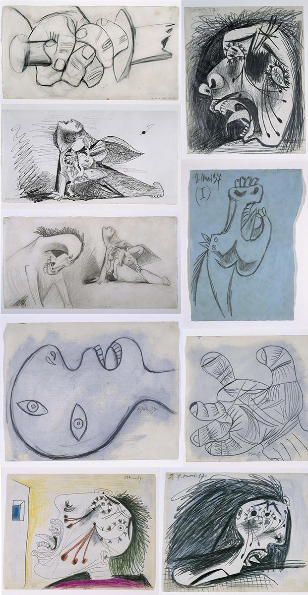 Estudios prerpratorios de Picasso para el 'Guernica' -  Museo Nacional Centro de Arte Reina Sofía, Madrid