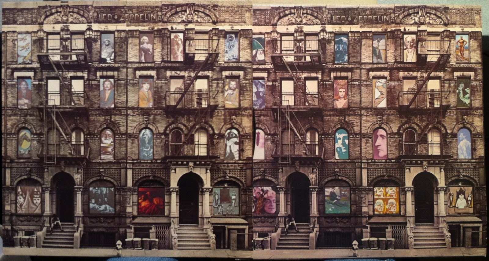 La cubierta de 'Physical Graffiti' extendida