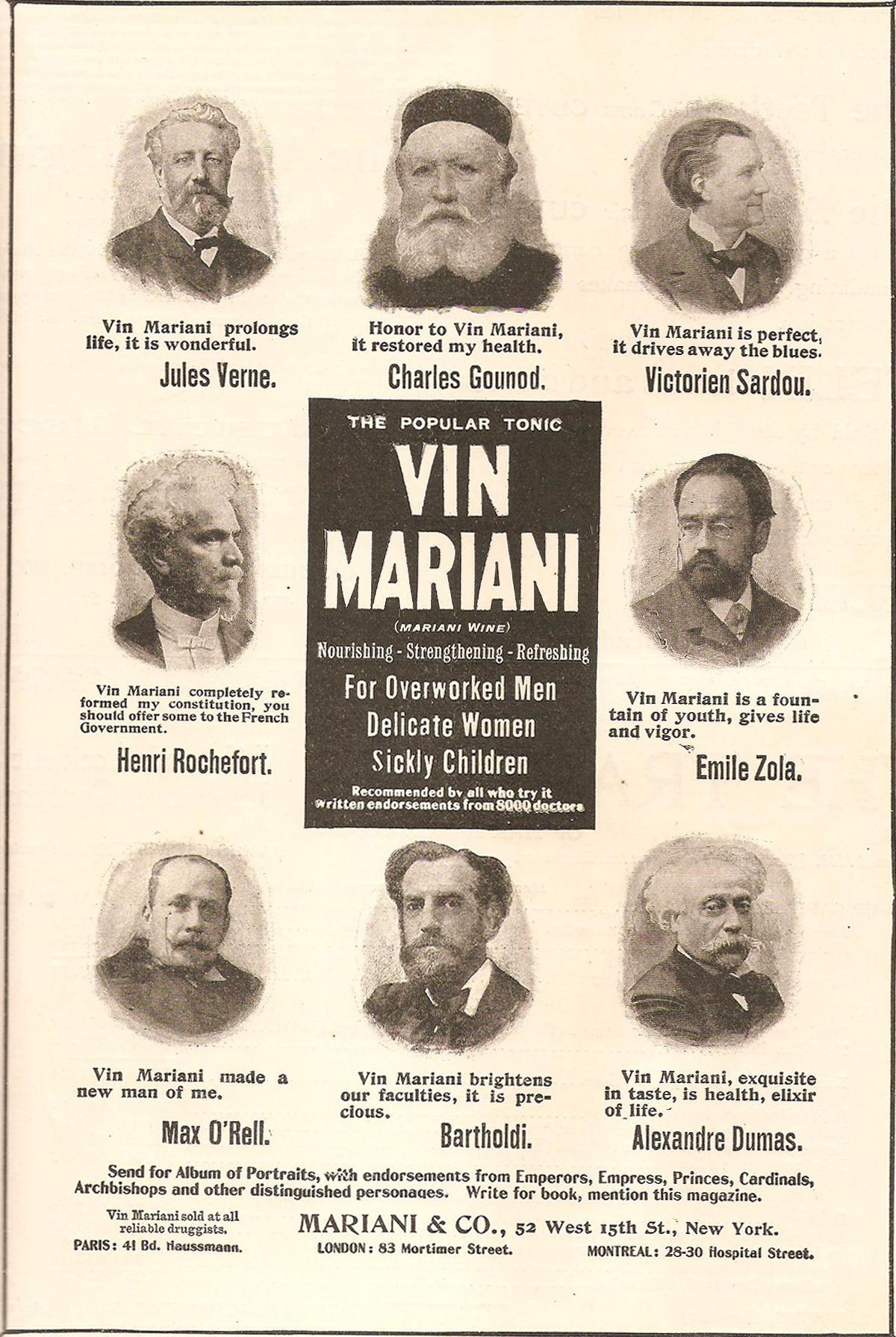 Publicidad del Vin Mariani