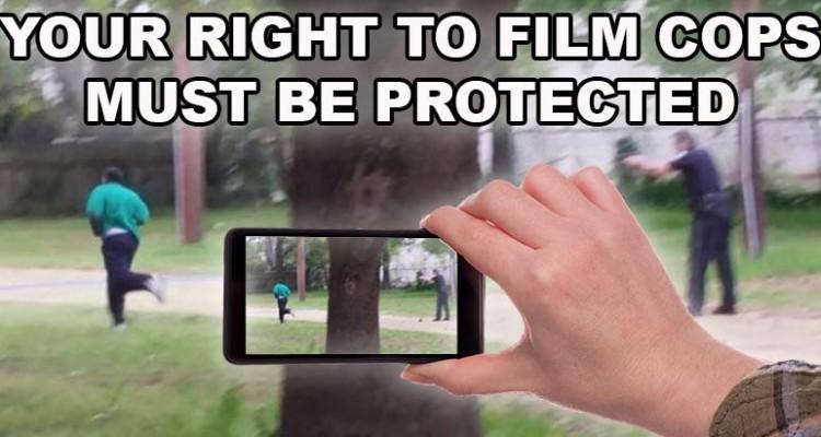 """""""Tu derecho a filmar policías debe estar protegido"""""""