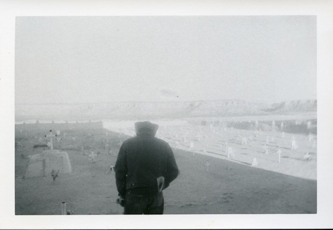 Untitled (cowboy in cemetery)  © Dennis Hopper