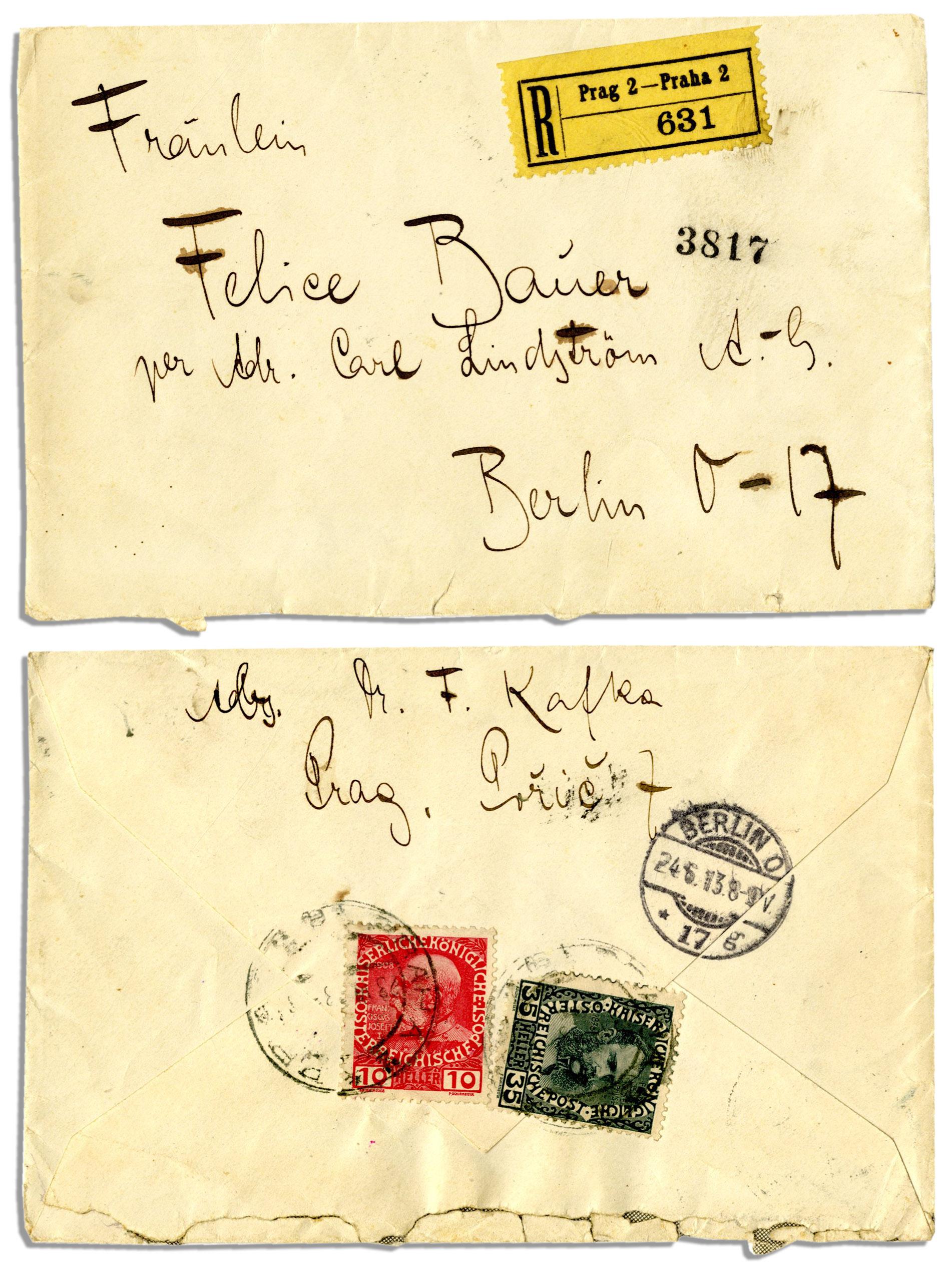Carta de Kafka a Felice Bauer