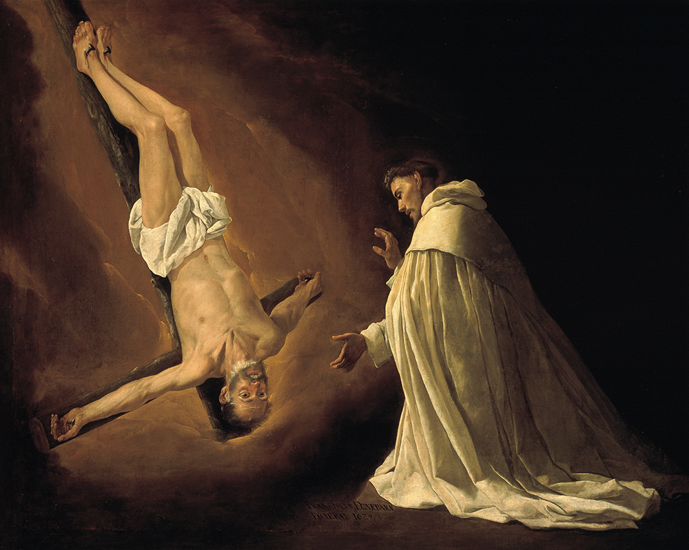 Francisco de Zurbarán - 'Aparición de San Pedro a San Pedro Nolasco', 1629, Museo del Prado, Madrid