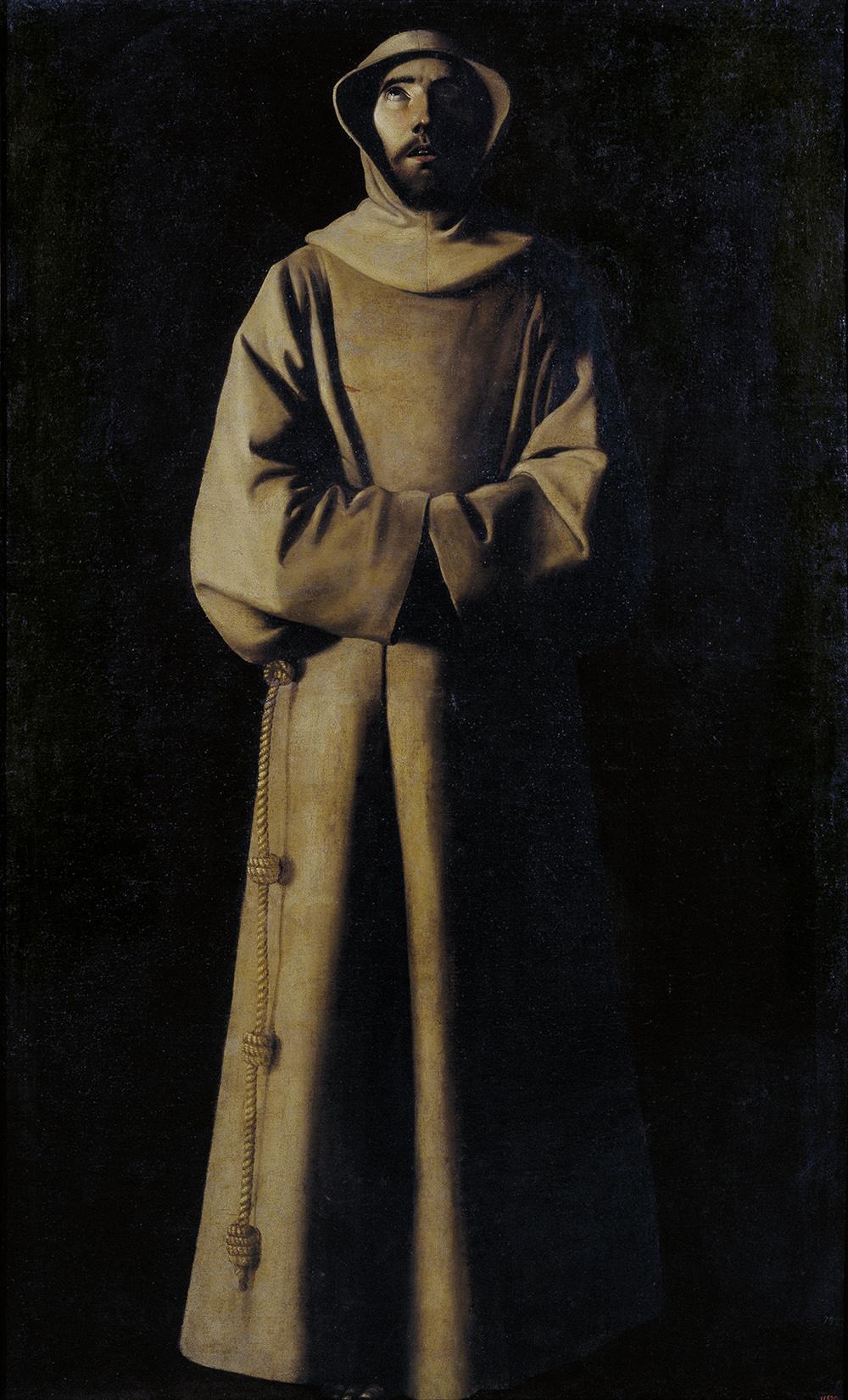 Francisco de Zurbarán - 'San Francisco de Asís según la visión del Papa Niocolas V', c. 1640
