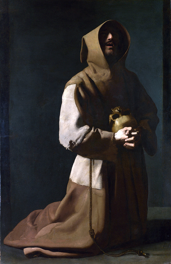 Francisco de Zurbarán - 'San Francisco meditando', c. 161 - National Gallery