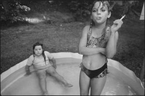 Amanda And Her Cousin Amy Valdese, North Carolina, USA, 1990 © Mary Ellen Mark