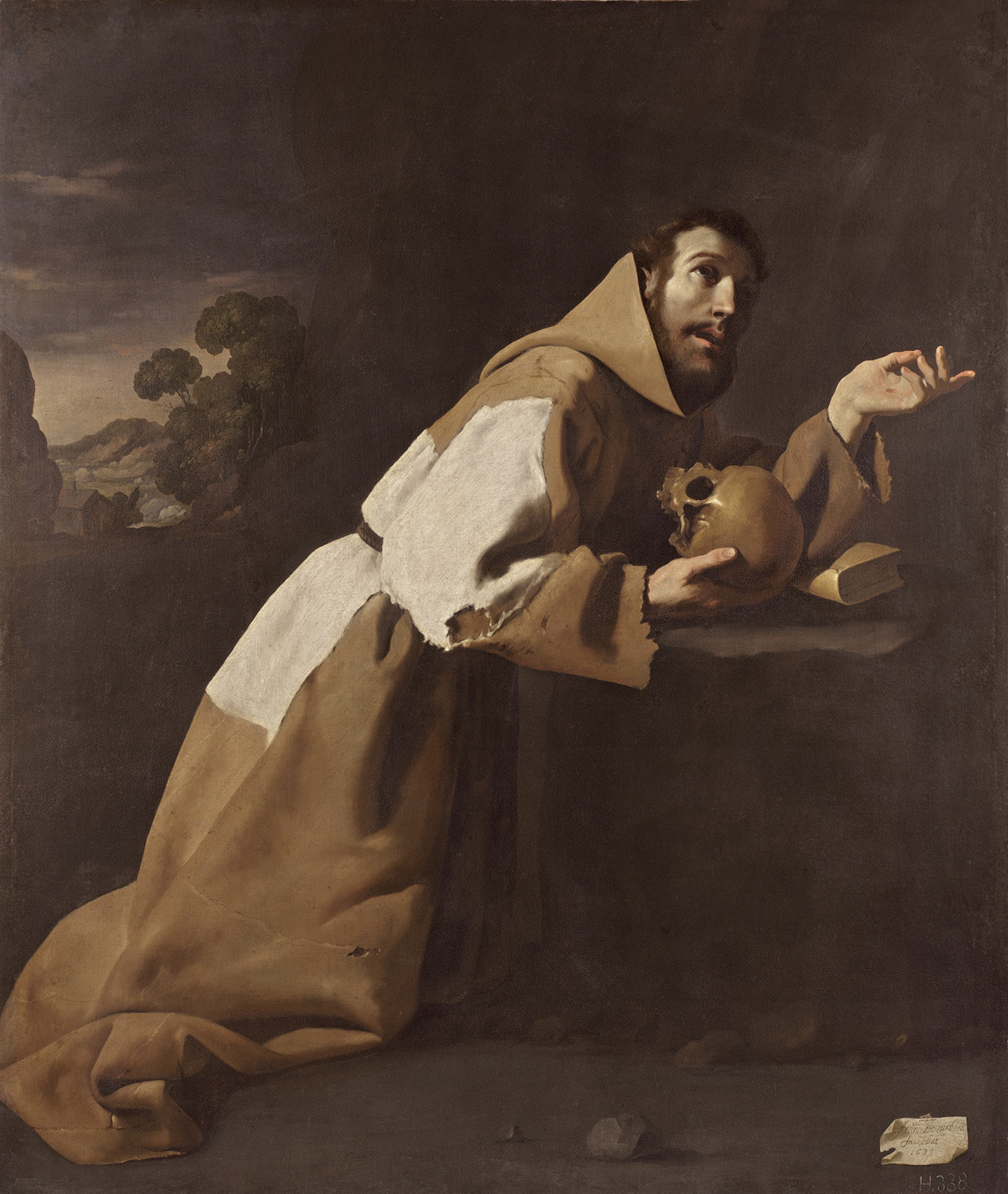 Francisco de Zurbarán - 'San Francisco en meditación', 1639, Londres, The National Gallery