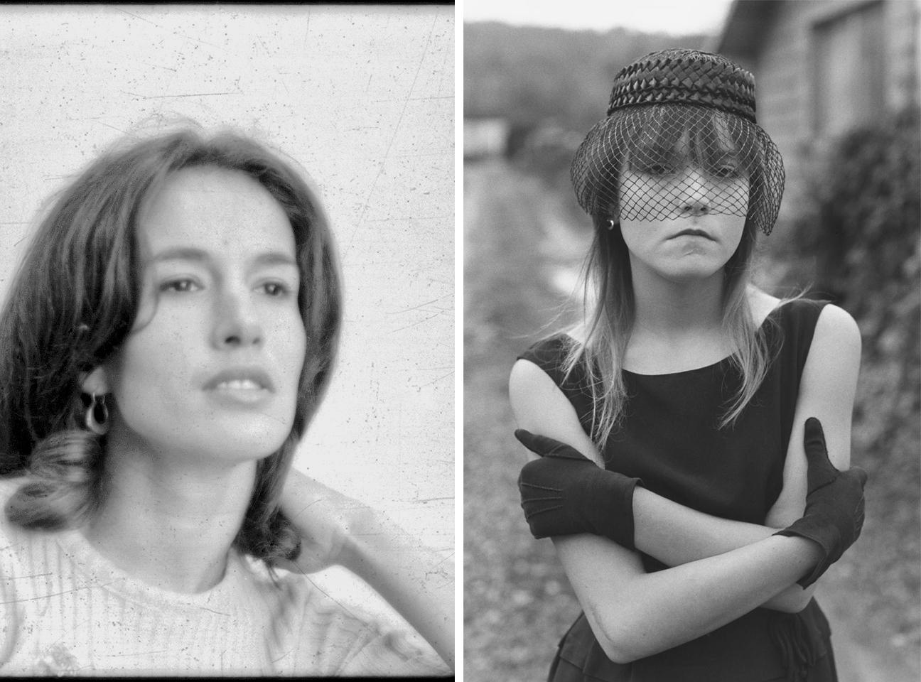 Izquierda, autorretrto de Mary Ellen Mark. Derecha, Tiny