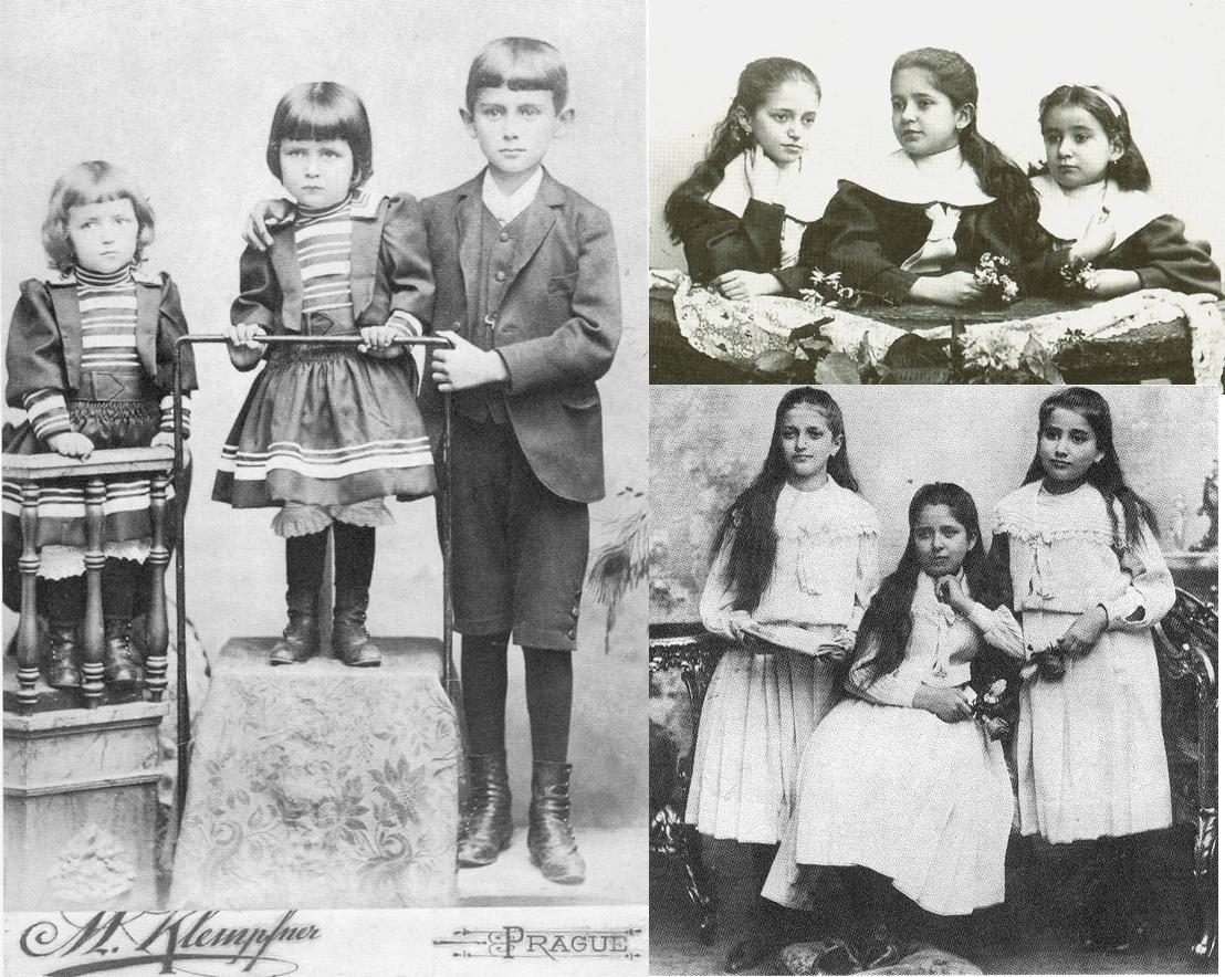 Las hermanas Kafka. Arriba a la derecha, desde la izquierda, Valli, Elli y Ottla