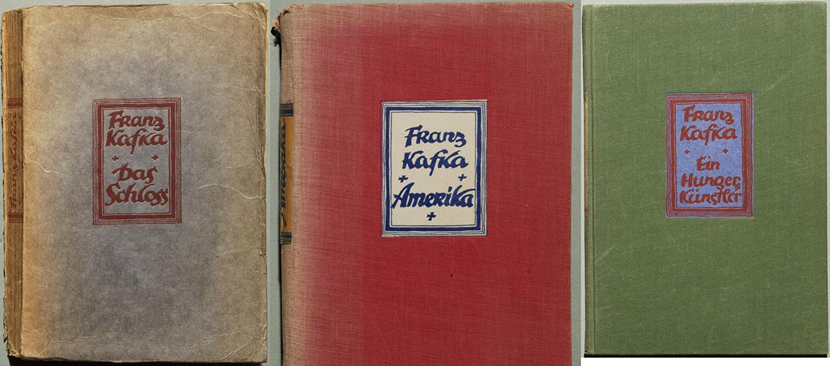Tres primeras ediciones de obras de Kafka
