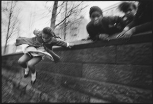 Girl Jumping Over A Wall Central Park, New York City, 1967 © Mary Ellen Mark