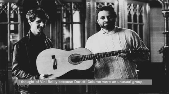 Julio Anguita (izquierda), Vini Reilly y la guitarra cordobesa, 1987