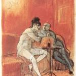 """""""La chanson de Chérubin"""" - Félicien Rops (Dominio público)"""