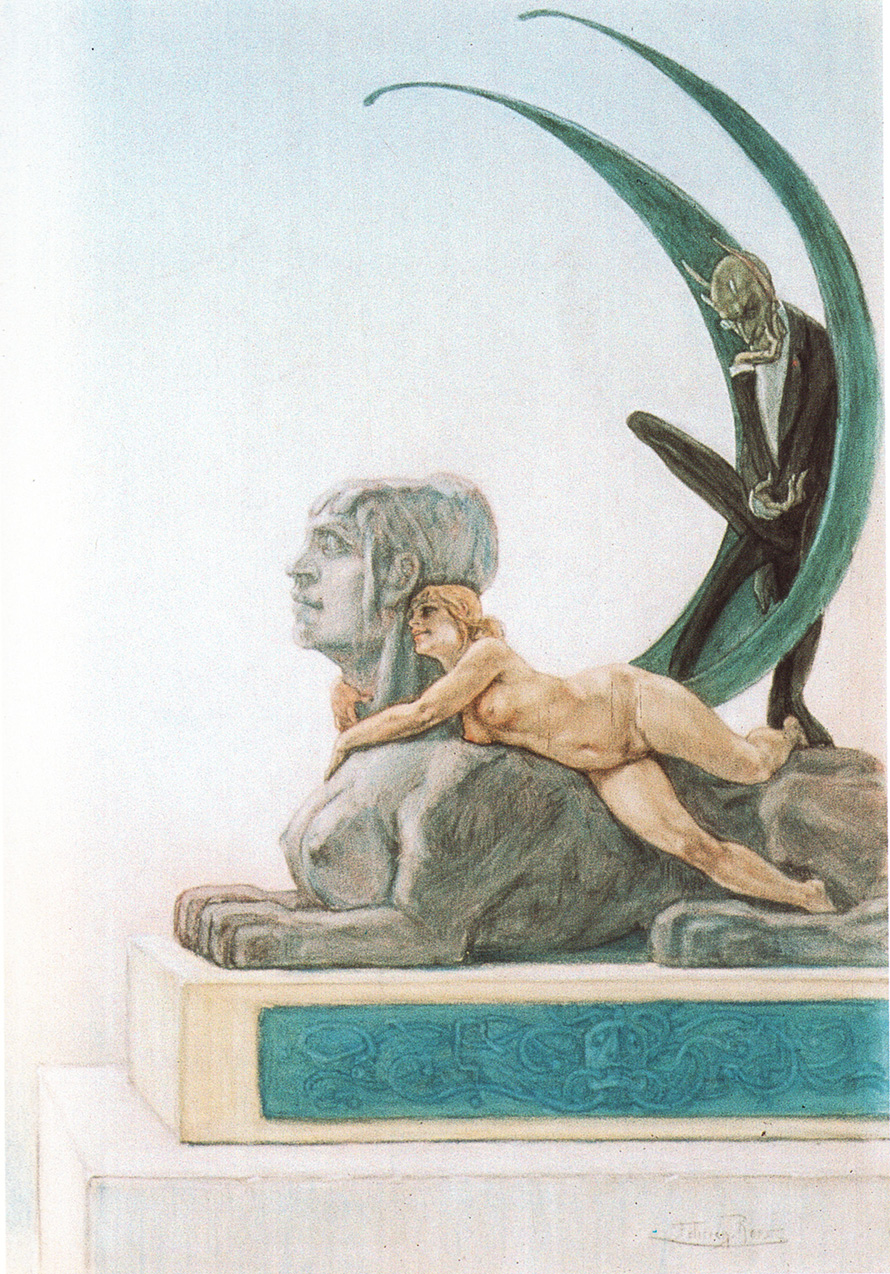 """""""The Sphinx"""", 1882 - Félicien Rops (Dominio público)"""