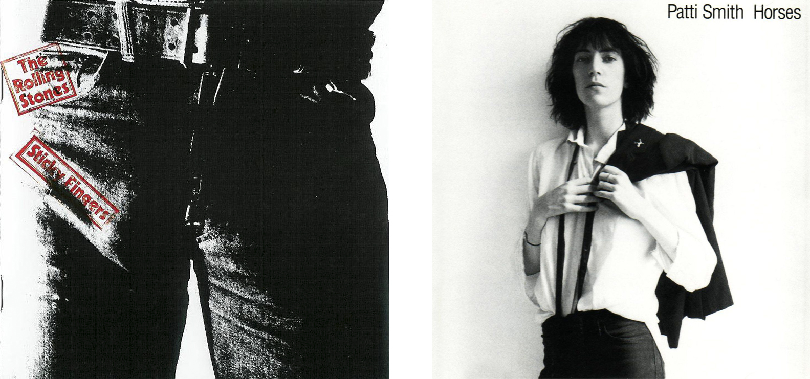 'Sticky Fingers' (The Rolling Stones, 1971) y 'Horses' (Patti Smith, 1975)