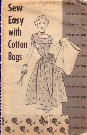 Libro de patrones para hacer vestidos con 'feedsacks'