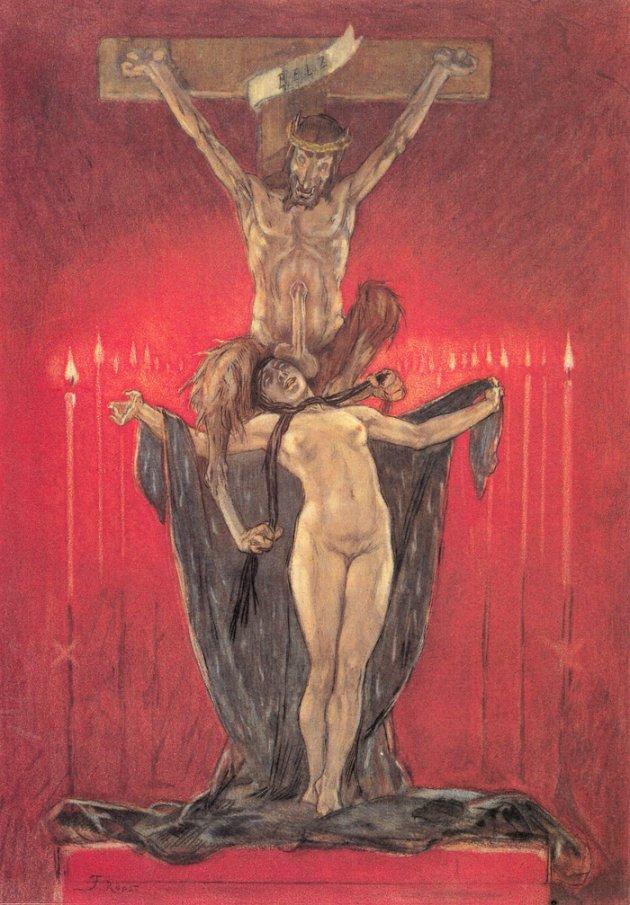 """""""El calvario"""" (de """"Las satánicas"""") - Félicien Rops"""