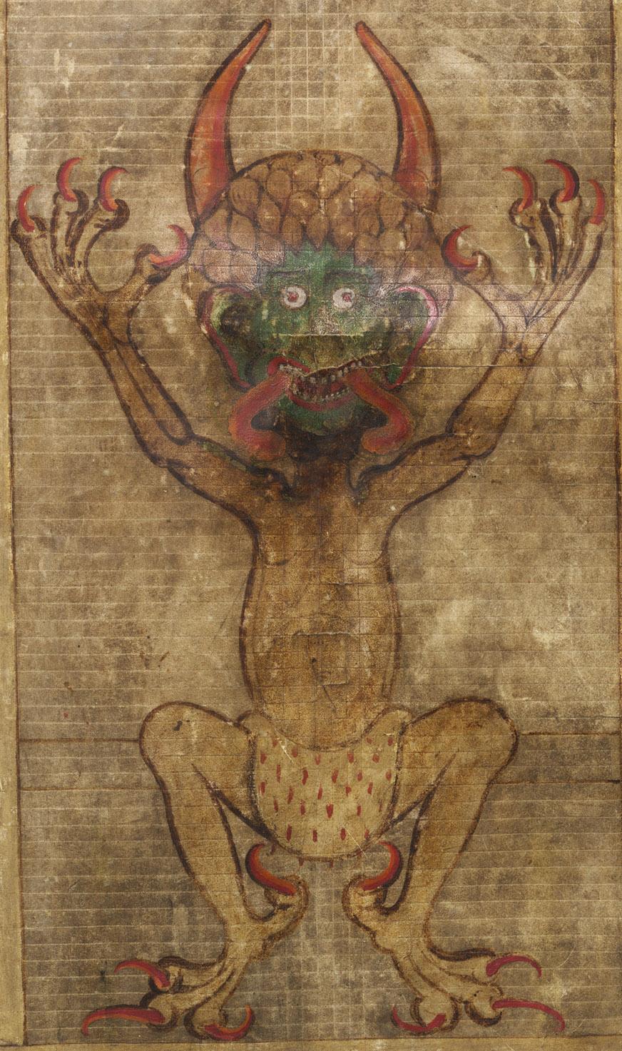 El diablo en el 'Codex Gigas' - Foto: National Library of Sweden