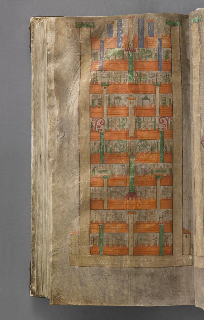 Jerusalén Celestial en el 'Codex Gigas' - Foto: National Library of Sweden