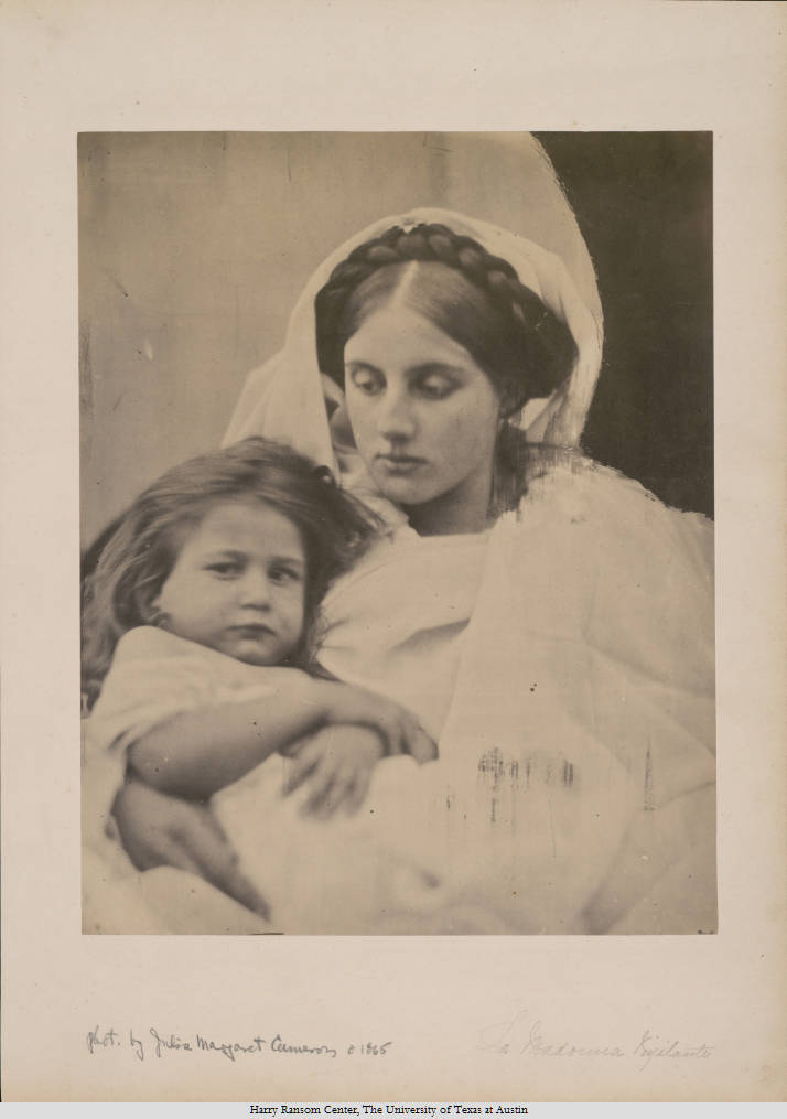 """La Madonna Vigilante"" - Julia Margaret Cameron, 1864 - Foto: Harry Ransom Center)"