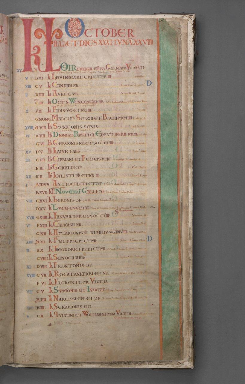 Página del calendario del 'Códex Gigas' - Foto: National Library of Sweden