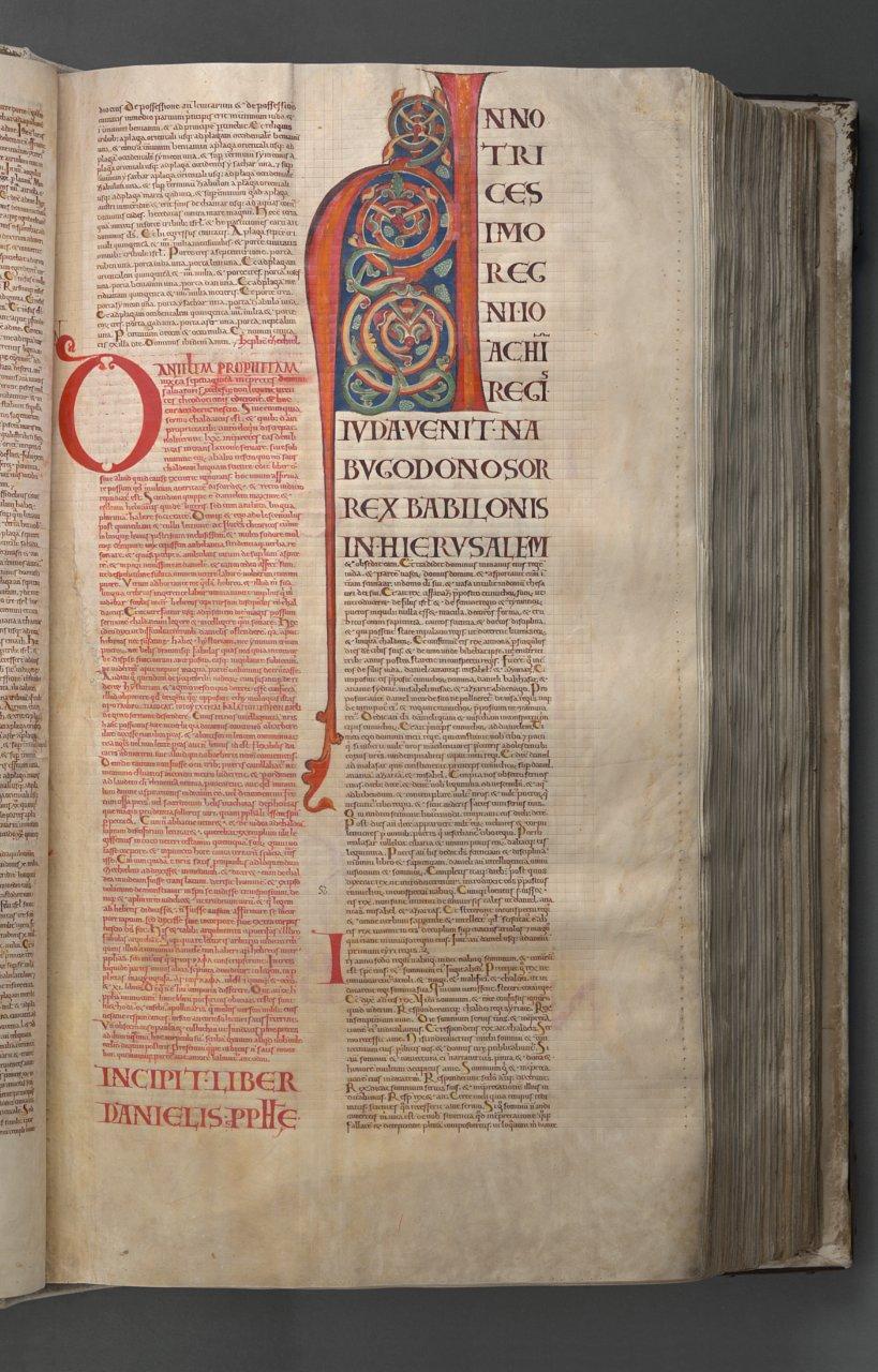 Letra capitular en una página del 'Codex Gigas' - Foto: National Library of Sweden