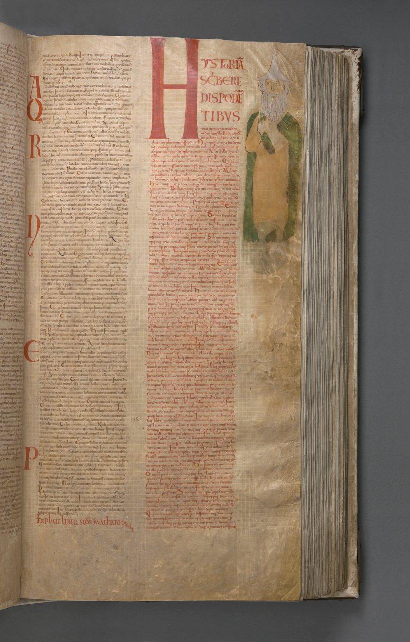 Retrato de Flavio Josefo, la única persona que aparece en el 'Codex Gigas' - Foto: National Library of Sweden