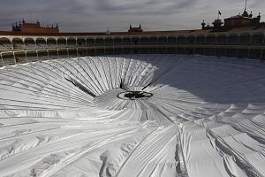 Cubierta desplomada de las Ventas