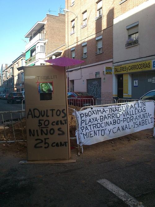 Socavón en Vallecas