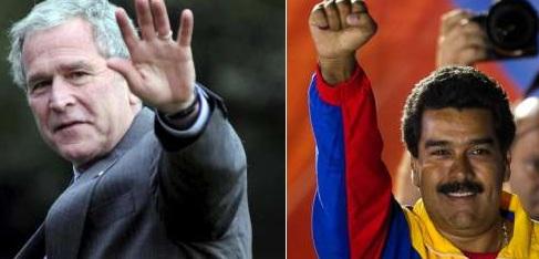 Bush y Maduro