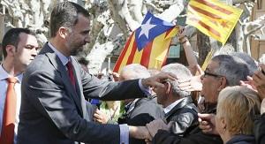 El prícipe Felipe visita Lleida