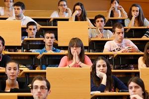 Examen en la universidad