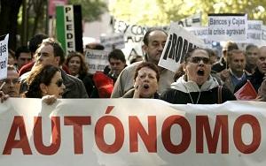 Manifestación de autónomos