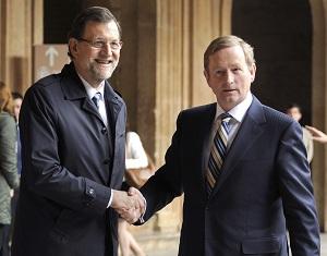 Rajoy saluda al primer ministro irlandés