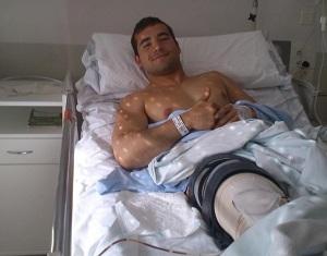 Operado de la rodilla