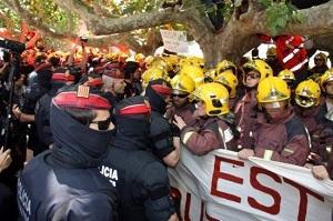 Protesta bomberos