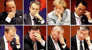 Políticos cansados