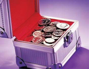 Dinero en caja fuerte