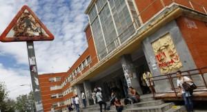 Fachada de la facultad de Derecho de la Universidad Complutense, en Ciudad Universitaria (Jorge París)